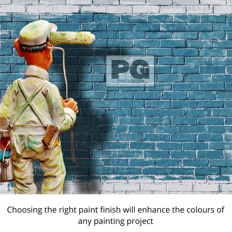 paint finish or paint sheen for interior or exterior painting