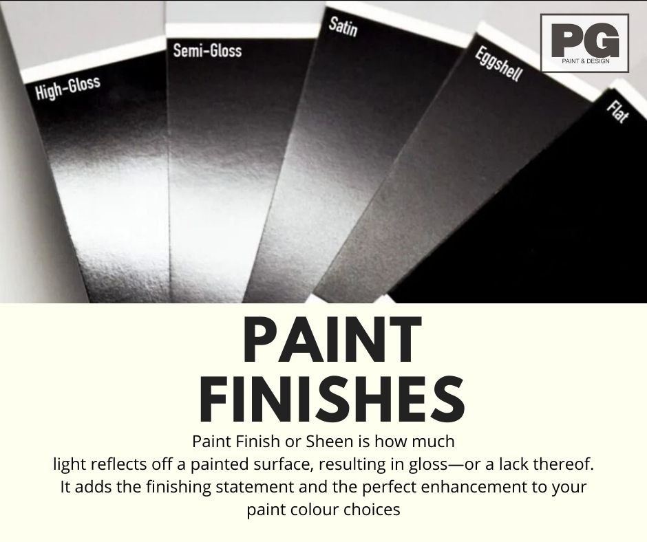 samples of different paint finish and sheens