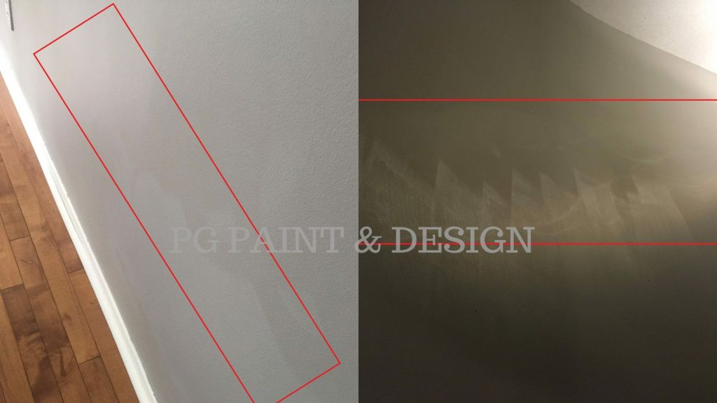 damage interior paint on walls from washing on flat paint finish
