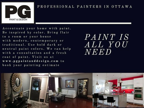 painters in Ottawa PG PAINT & DESIGN a local painting company