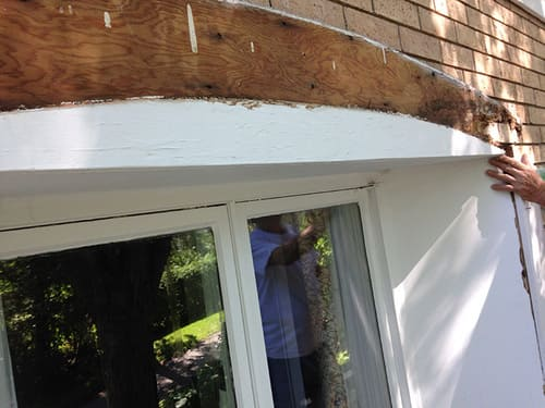 exterior window frame replaced before painting
