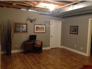 interior painting of basement walls of basement in a Stittsville area home