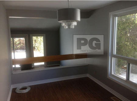 interior painting of dining room and living room of house in barrhaven by PG PAINT & DESIGN painters