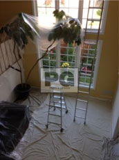 painting high ceilings in a room