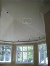 painting of high ceilings with window trim and baseboards by PG PAINT & DESIGN Ottawa House Painters