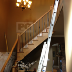 ladder used for interior house painting of high ceilings and walls