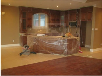 interior painting of kitchen by painters PG PAINT & DESIGN