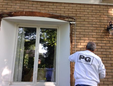 exterior painting of windows