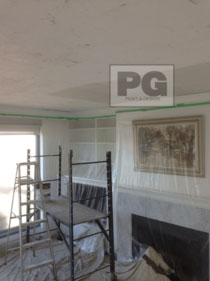 stipple ceiling removal and interior painting by PG PAINT & DESIGN painters