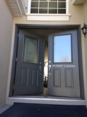 painting the exterior of front door to house