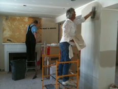 patching and repairing drywall before interior painting by PG PAINT & DESIGN Ottawa painters