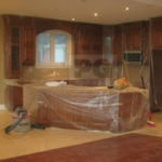 plastic wrap on furniture and areas where no paint is needed, professional painters ensure this is taken care of
