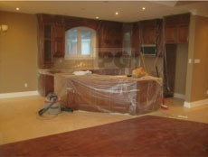 interior painting of kitchen and eating area by PG PAINT & DESIGN painters in Ottawa