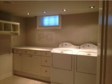interior painting of laundry room by PG PAINT & DESIGN painters in Ottawa