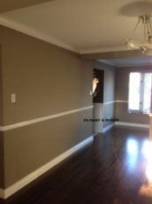 interior painting with two tone gray paint colours by PG PAINT & DESIGN Ottawa Painters