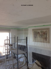 stipple ceiling removal, patching and painting by PG PAINT & DESIGN painters in Ottawa