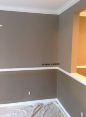 interior painting of a room with benjamin moore paints by PG PAINT & DESIGN Ottawa Painters