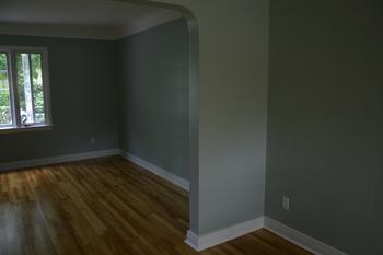 interior painting of living and dining room by PG PAINT & DESIGN painters
