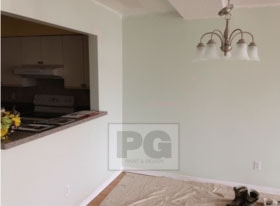 interior painting of condo by PG PAINT & DESIGN painters