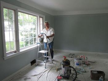 interior painting of room by PG PAINT & DESIGN painters