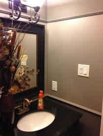 interior painting of walls in bathroom of stittsville home by painters PG PAINT & DESIGN
