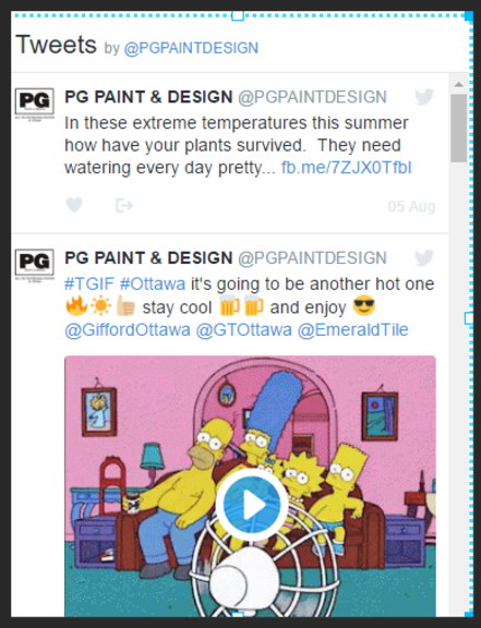 Twitter feed for PG PAINT & DESIGN House Painters in Ottawa