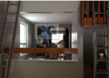 interior painting of kitchen and family room of townhouse in Barrhaven Ottawa neighborhood