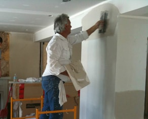 PGPAINT & DESIGN working on a Interior Renovation project with drywall patching and repair