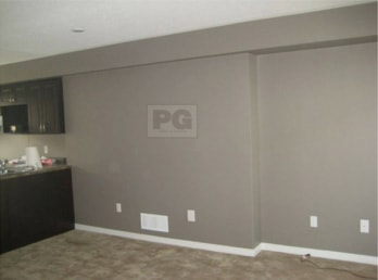 gray painted walls of town house painting by PG PAINT & DESIGN Ottawa painters
