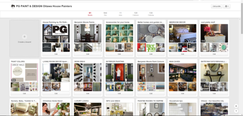 Pinterest Board for PG PAINT & DESIGN house painters in Ottawa