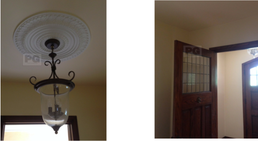 interior painting of ceiling and front door and entrance in the Glebe by PG PAINT & DESIGN Ottawa house painters