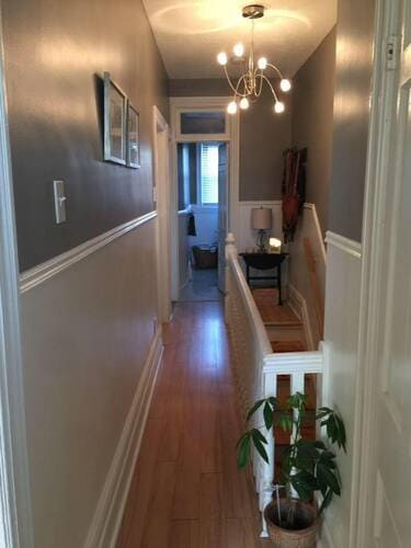 interior painting of hallway entrance in eggshell paint finish