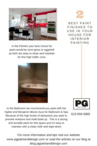 guide to choosing paint finish for kitchen and bathroom painting