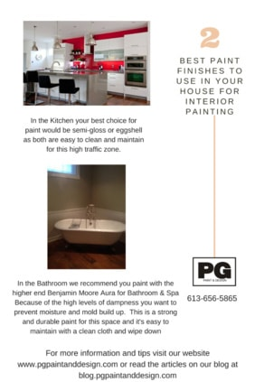 best paint and paint finish to use for painting kitchens and bathrooms