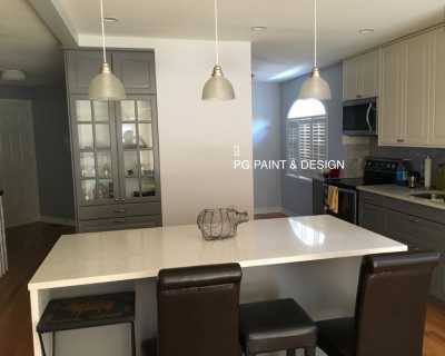 Interior Painting of a modern Kitchen in Ottawa by PG PAINT & DESIGN house painters