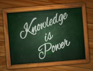 sign that reads knowledge is power for homeowners to learn all they can when choosing the right paint and painting company in Ottawa