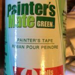 painter's tape used by painters when painting interior of a room or house