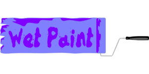 sign for wet paint