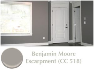 Popular Paint Colour Benjamin Moore Escarpment Gray CC-518 used by painting company in Ottawa PG PAINT & DESIGN house painters