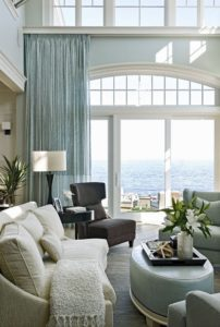 living room with big window and furniture painted in neutral gray paint and white gives modern look by Ottawa House Painters PG PAINT & DESIGN