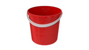 Pail to be filled with water and bleach to remove mold from ceiling or walls in house