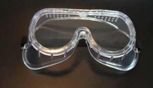protective eyewear safety goggles to be worn when removing mold from ceilings