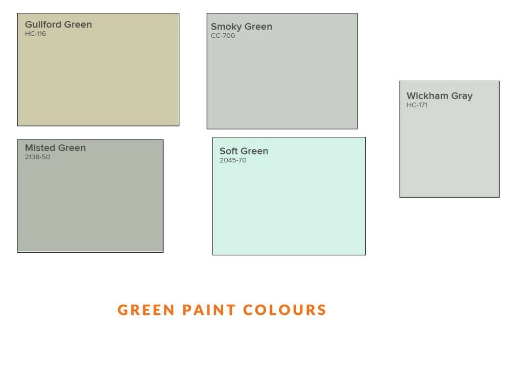 green paint colours used by painters in Ottawa PG Paint & Design