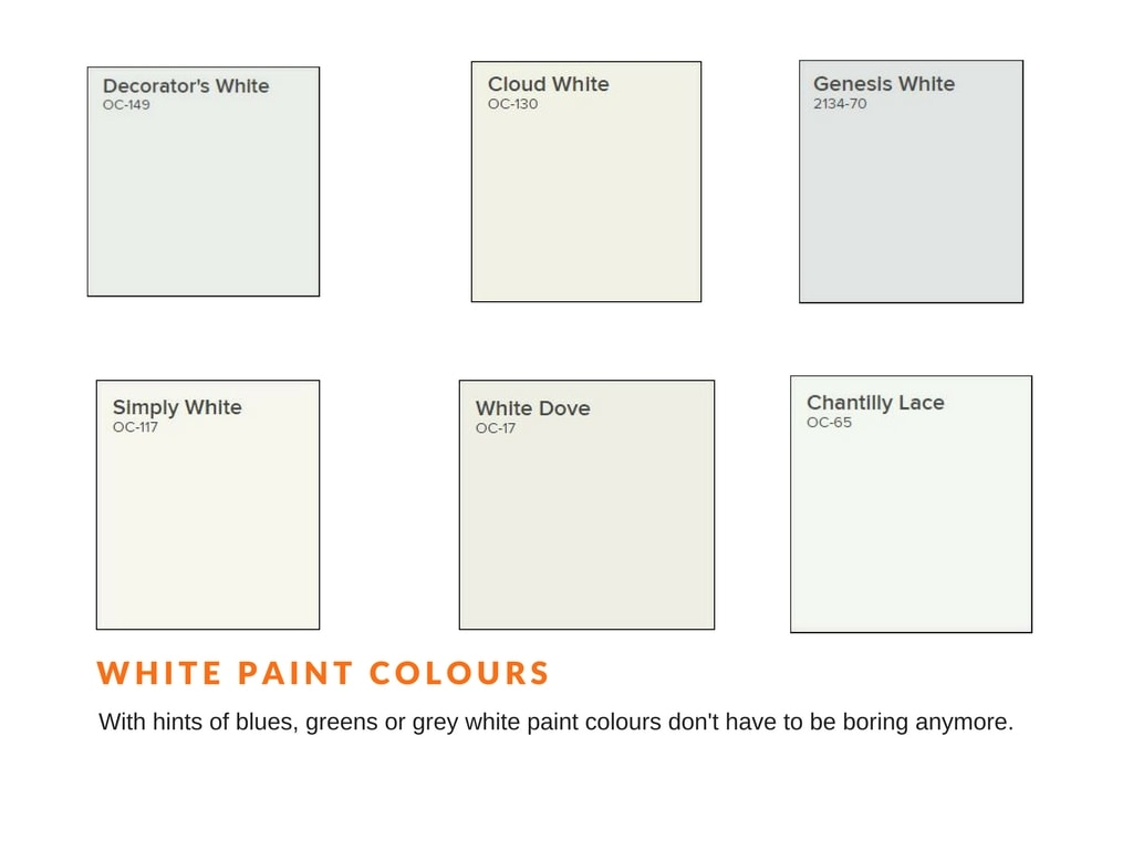 White Paint Colours for house painting