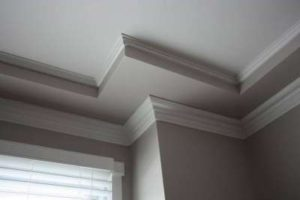 crown moulding wood work painted white by painters ottawa PG PAINT