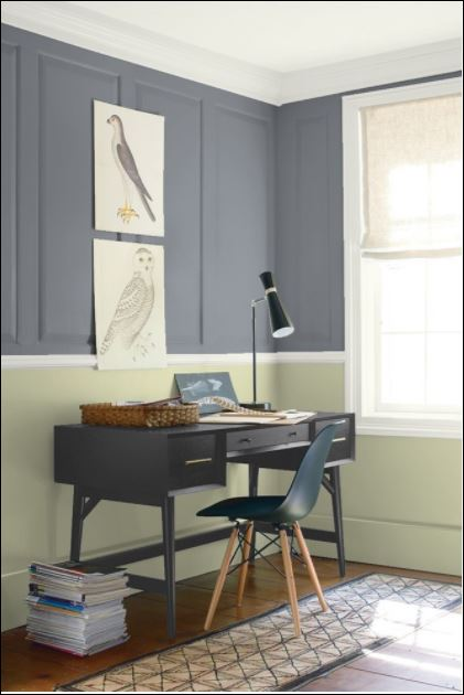 paint colour dior gray from benjamin moore paints used by painters in ottawa for painting of home office