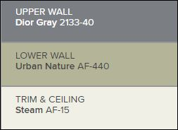 sample of paint colours in the grays used by house painters PG Paint & Design in Ottawa