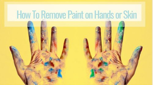 how to remove paint on hands or skin