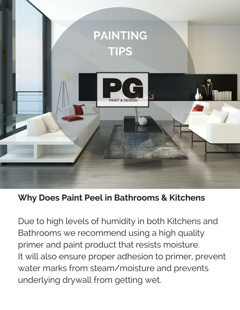 why does paint peel is explained in painting tips from PG Paint & Design Ottawa house painters