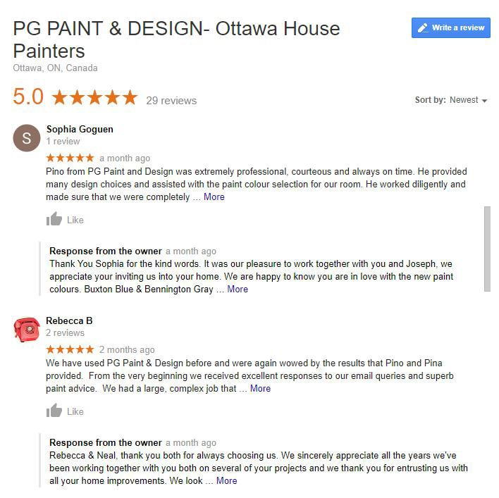 Reviews for Painting Contractor in Ottawa Canada